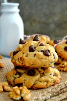 These Copycat Levain Bakery Walnut Chocolate Chip Cookies are INCREDIBLE! Thick, chewy, soft and bursting with walnut pieces and chocolate chips, they're so easy to make and taste just like Levain's from NYC!