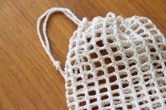 Pyssellen - Virka en fruktpåse. Stick O, Ann Louise, Wool Felt, Knit Crochet, Crochet Patterns, Knitting, Plast, Creative, Fabric