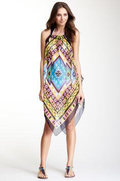 Sheer Halter Dress
