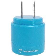 IESSENTIALS IE-ACP2U-BL 2.1-Amp Dual-USB Home Charger (Blue)