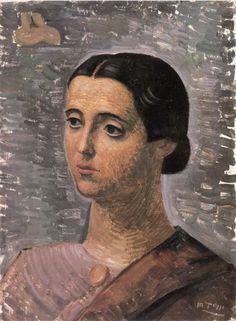 Mario Tozzi (Italy 1895-1979), Figura Di Donna, oil, 1948. Museo di Stato, San Marino.