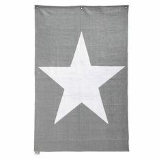 Déco murale étoile en coton blanche 118 x 180 cm STAR