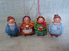 Дело было вечером...: Морячки и барышни. White Ornaments, Christmas Ornaments, Christmas Ideas, Salt Dough, Paper Mache, Sculpting, Crafts For Kids, Xmas, Dolls