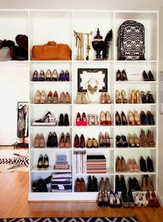 Perfect for studio apartment shoe display  http://www.pinterest.com/JessicaMpins/