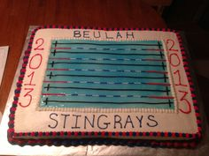 Swim team banquet cake.