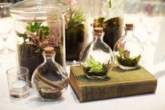 science wedding + little glass vials