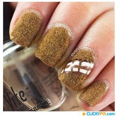 The Force Awakens With These Incredible Pieces of Star Wars Nail Art. #7 Chewbacca Nails