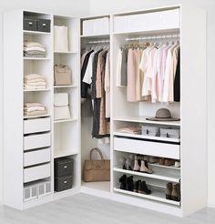 Ideas Corner Wardrobe Closet Ikea Pax For 2019 Corner Wardrobe Closet, Ikea Pax Wardrobe, Ikea Closet, Bedroom Wardrobe, Built In Wardrobe, Wardrobe Storage, Bedroom Closet Design, Ikea Bedroom, Wardrobe Design