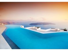 Grace Santorini - Infinity Pool with sunset
