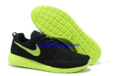 sneakers for cheap cacc3 58bb1 2013 nuovo Sneaker Nike Roshe Run Uomo Scarpe Da Running - Nero green giallo