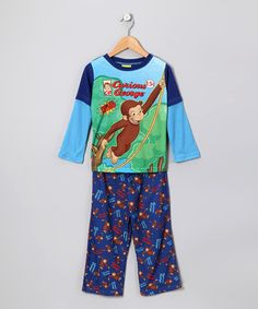 Take a look at this Blue Curious George Pajama Set - Kids by Curious George Collection on #zulily today!