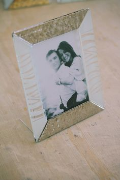 16 x 20 cm - White and Silver Glass Photoframe - Photographed by Gabriele Parafioriti Photography - Photo inside Taylor Lord