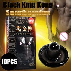 Davidsource黒キングコング10ピースラテックス滑らかな黒コンドーム用角質男性女性大人のセックス製品送料無料