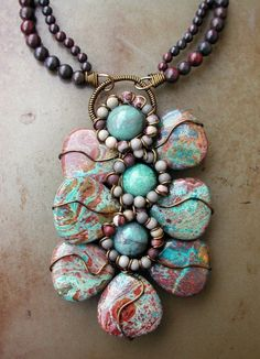 Wirewrapped Natural Stone Necklace