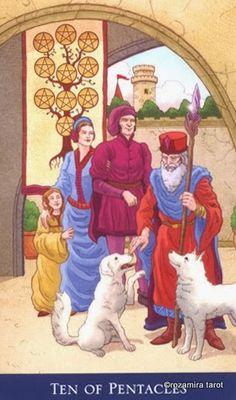 Ten of Pentacles ~ Llewellyn's Classic Tarot