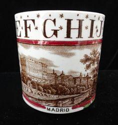 Antique Childs Staffordshire ABC Mug