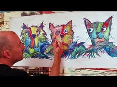 CATS SPEED ART painting time lapse by RAEART