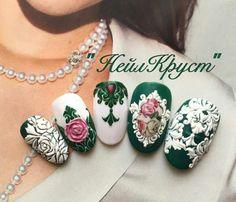 #naildesign #nailart #vintagenailart #greennail