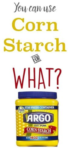 Find out 10 ways to use Corn Starch that don't involve baking.