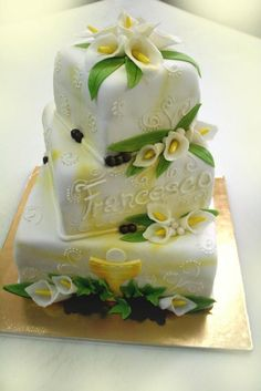 First Communion Cakes, Gorgeous Cakes, Wedding Cakes, Pasta, Baby Shower, Holidays, Desserts, Food, Pretty Cakes