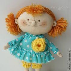 Купить Рыжая Текстильная кукла - кукла, кукла ручной работы, кукла в подарок, маленькая кукла