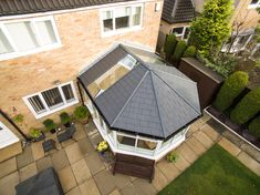 You won't have to settle for less. This conservatory roof has been designed to offer a lightweight tiled roof that achieves a standard of heat retention that allows your living area to remain comfortable and useable throughout the year. Glass Conservatory Roof, Replacement Conservatory Roof, Conservatory Dining Room, Conservatory Extension, Conservatory Design, Conservatory Interiors, Conservatories Uk, House Extension Design, Extension Ideas