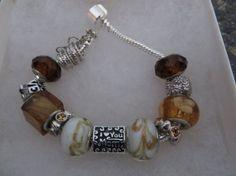 I LOVE YOU Mom bracelet   european style beads by NURSESCREATIONS, $15.00