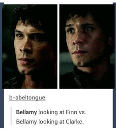 Well, was there ever any doubt? #the100 #bellarke Bellamy Blake (Bob Morley) <<<>>>> you know he loves her ;)