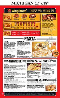 Michigan menu