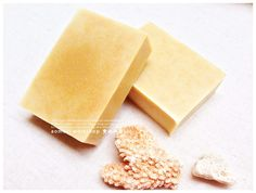 Handmade cold process soap with natural vegetables & fruit oils and herbs. No artificial colorants, fragrant, preservatives, and lather boosters. Aomori, Honey Soap, All Natural Skin Care, Cold Process Soap, Herbs, Ice, Cosmetics, Fruit, Vegetables