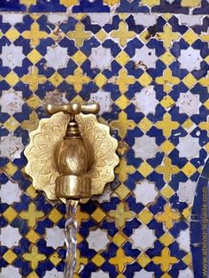 Faucet in tiled wall