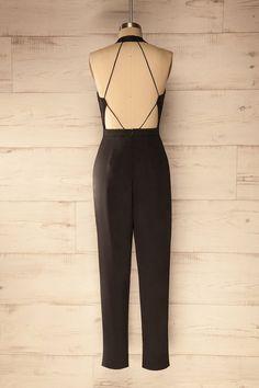 Pancallo - Black veil cut-out jumpsuit