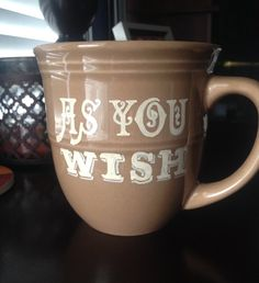 As You Wish Princess Bride coffee cup by HelloSweetieGifts on Etsy