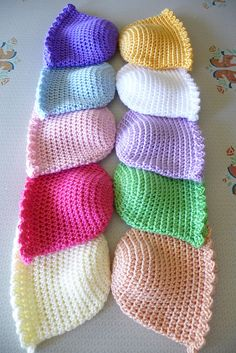 baby hats  http://www.ravelry.com/projects/buttercup11/crochet-baby-beanie-cap-5