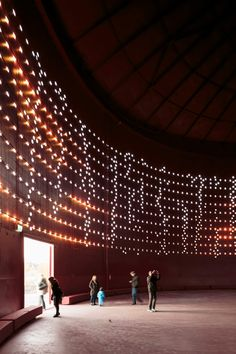 The city of Helsinki tapped Madrid-based Lighting Design Collective (LDC) to convert a once-used oil silo into an interactive light installation called Silo 468 to commemorate Helsinki being the World Design Capital of 2012