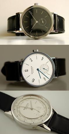 Nomos: Amazing quintessential Bauhaus-inspired minimal watch.