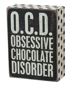 Look what I found on #zulily! 'O.C.D.' Box Sign #zulilyfinds