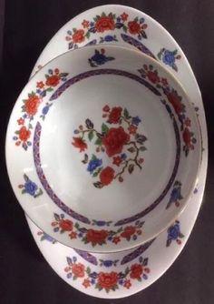The Regent Collection Old Imari 2 Piece Set Yung Shen China Platter Serving Bowl  | eBay
