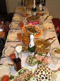 A Russian table. You'll never leave hungry..guaranteed.