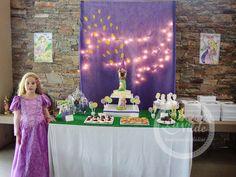 Mesa de cumpleaños Rapunzel