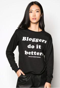 MANGO Message Cotton-Blend Sweatshirt 文字印花衛衣