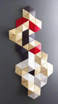 Geometric wall decor/ Modern wood wall art/ Abstract wall art/