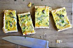 I'd be happier if this was a hundred times BIGGER but... here's mushroom & asparagus quiche