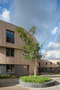 CPO De Groene Mient_FillieVerhoevenArchitecten_Facade The Hague, Exterior Design, Netherlands, Facade, Buildings, Mansions, House Styles, Home Decor, City