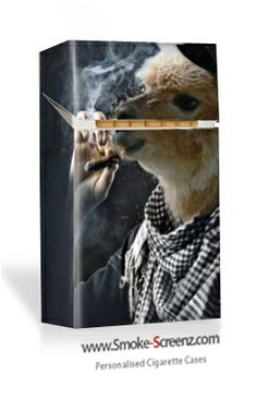 Smoking Llama design - a personally designed cigarette case from Smoke Screenz