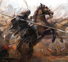 Charge des cavaliers de Korsning