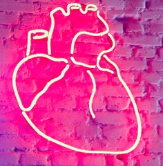 Neon Signs + Sayings: Heart Neon Sign Neon Rosa, Pattern Texture, Neon Aesthetic, All Of The Lights, Neon Glow, Heart Art, Heart Sign, Neon Lighting, Light Art