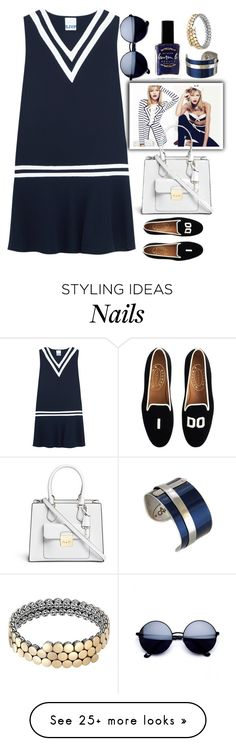 """Nautical style"" by grinevagh on Polyvore featuring Steve J & Yoni P, J.Crew, Lauren B. Beauty, John Hardy and Michael Kors"