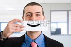 Portrait of a funny smiling businessman Stock Photo