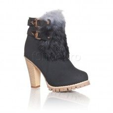 Botine Kiev - Negru Heeled Mules, Booty, Ankle, Heels, Mai, Fashion, Heel, Moda, Swag